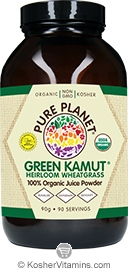 Pure Planet Kosher Organic Green Kamut Powder Heirloom Wheatgrass 90 Grams