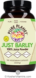 Pure Planet Kosher Just Barley 180 Vegetarian Capsules