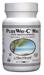 Maxi Health Kosher PureWay-C Max Vitamin C 500 mg with Bioflavonoids 90 Maxicaps