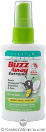 Quantum Health Buzz Away Extreme Natural Insect Repellent Spray Deet Free 2 OZ