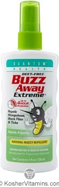 Quantum Health Buzz Away Extreme Natural Insect Repellent Spray Deet Free 4 OZ