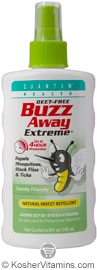 Quantum Health Buzz Away Extreme Natural Insect Repellent Spray Deet Free 8 OZ