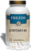 Freeda Kosher Quintabs M Multivitamin and Mineral Iron Free 100 Tablets