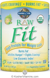 Garden Of Life Kosher Raw Fit Organic High Protein Powder For Weight Loss Original 16 Oz