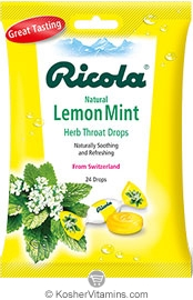 Ricola Kosher Ricola Lemon-Mint (24 drops) 1 Bag