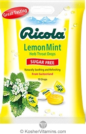 Ricola Kosher Ricola Sugar Free Lemon-Mint 1 Bag