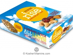 Rise Kosher Breakfast Bar Crunchy Cashew Almond Dairy 12 Bars
