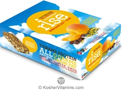 Rise Kosher Breakfast Bar Crunchy Perfect Pumpkin Dairy 12 Bars