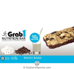 Grab1 Kosher Nutrition Bar 10g Protein Rocky Road Dairy Cholov Yisroel 1 Bar