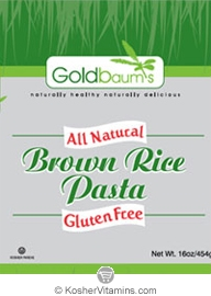 Goldbaum's Kosher All Natural Brown Rice Pasta Fusilli Gluten Free 16 OZ