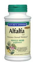 Natures Answer Kosher Alfalfa Leaf 90 Capsules