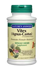 Natures Answer Kosher Vitex (Agnus-Castus) Chastetree Berry  90 Capsules