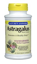 Natures Answer Standardized Astragalus Root Extract Vegetarian Suitable not Certified Kosher 60 Capsules