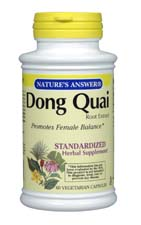 Natures Answer Standardized Dong Quai Root Extract Vegetarian Suitable not Certified Kosher 60 Vegicaps