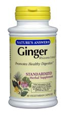 Natures Answer Standardized Ginger Rhizome Extract Vegetarian Suitable not Certified Kosher  60 Vegicaps