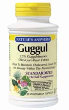 Natures Answer Standardized Guggul Vegetarian Suitable not Certified Kosher 60 Capsules