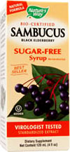 Natures Way Kosher Sambucus Black Elderberry Syrup Sugar Free 8 Fl oz