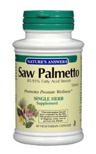 Natures Answer Standarized Saw Palmetto Berry Extract Vegetarian Suitable Not Certified Kosher 120 Vegetable Capsules