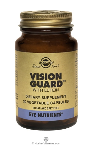 Solgar Vision Guard Vegetarian Suitable Not Certified Kosher 60 Vegetable Capsules