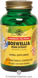 Solgar Kosher SFP Boswellia Resin Extract  60 Vegetable Capsules