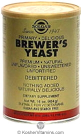 Solgar Brewer's Yeast Powder Vegetarian Suitable Not Certified Kosher 14 OZ