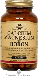Solgar Kosher Calcium Magnesium plus Boron 100 Tablets