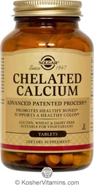Solgar Kosher Chelated Calcium 250 Tablets