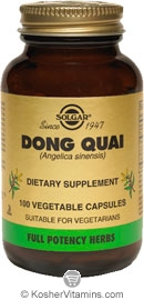 Solgar Kosher FP Dong Quai 100 Vegetable Capsules