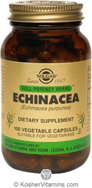 Solgar Kosher FP Echinacea 100 Vegetable Capsules