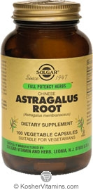 Solgar Kosher FP Chinese Astragalus Root 100 Vegetable Capsules