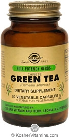 Solgar Kosher FP Chinese Green Tea 50 Vegetable Capsules