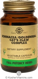 Solgar FP Echinacea/ Goldenseal/ Cat's Claw Complex 30 Vegetable Capsules