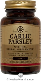 Solgar Kosher Garlic Parsley 250 Tablets