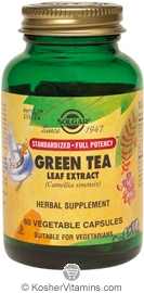 Solgar Kosher SFP Green Tea Leaf Extract 60 Vegetable Capsules