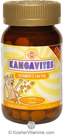 Solgar Kosher Kangavites Vitamin C 100 Mg Chewable Orange Burst Flavor 90 Chewable Tablets