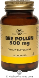 Solgar Kosher Bee Pollen 500 Mg 100 Tablets