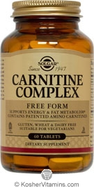 Solgar Kosher Carnitine Complex 60 Tablets