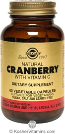 Solgar Kosher Cranberry Extract with Vitamin C 60 Vegetable Capsules