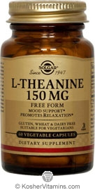 Solgar Kosher L-Theanine 150 mg 60 Vegetable Capsules