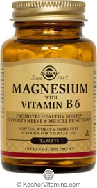Solgar Kosher Magnesium with B6 250 Tablets