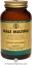 Solgar Male Multiple Vegetarian Suitable Not Certified Kosher 180 Tablets