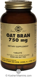 Solgar Kosher Oat Bran 750 mg  250 Tablets