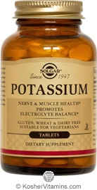 Solgar Kosher Potassium 100 Tablets