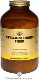 Solgar Kosher Psyllium Husks Fiber Powder 10 OZ