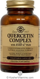 Solgar Kosher Quercetin Complex with Ester-C Plus 100 Vegetable Capsules