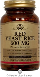 Solgar Kosher Red Yeast Rice 600 Mg 60 Vegetable Capsules