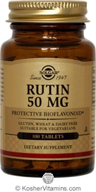 Solgar Kosher Rutin 50 Mg 100 Tablets