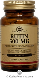 Solgar Kosher Rutin 500 Mg 100 Tablets
