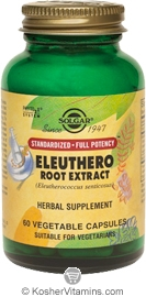 Solgar SFP Eleuthero Root Extract Eleuthero (Siberian Ginseng) 60 Vegetable Capsules