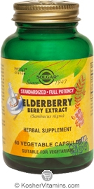 Solgar SFP Elderberry Berry Extract 60 Vegetable Capsules